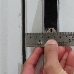 measuring a lock backset